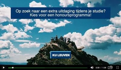 Honoursprogramma – Faculteit Ingenieurswetenschappen KU Leuven